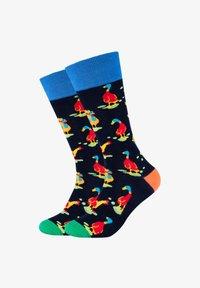 Fun Socks - 2 PACK - Socks - navy mix - 0