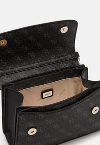 Guess - CAMY CROSSBODY FLAP - Across body bag - coal multi