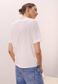 Massimo Dutti - Print T-shirt - white - 1