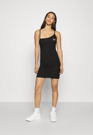 STRAPPY DRESS - Jersey dress - black