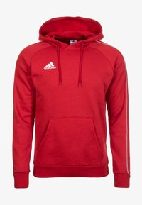 adidas Performance - CORE ELEVEN FOOTBALL HODDIE SWEAT - Bluza z kapturem - red/white - 0