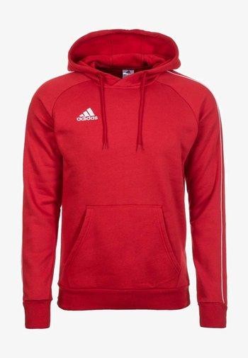CORE ELEVEN FOOTBALL HODDIE SWEAT - Felpa con cappuccio - red/white