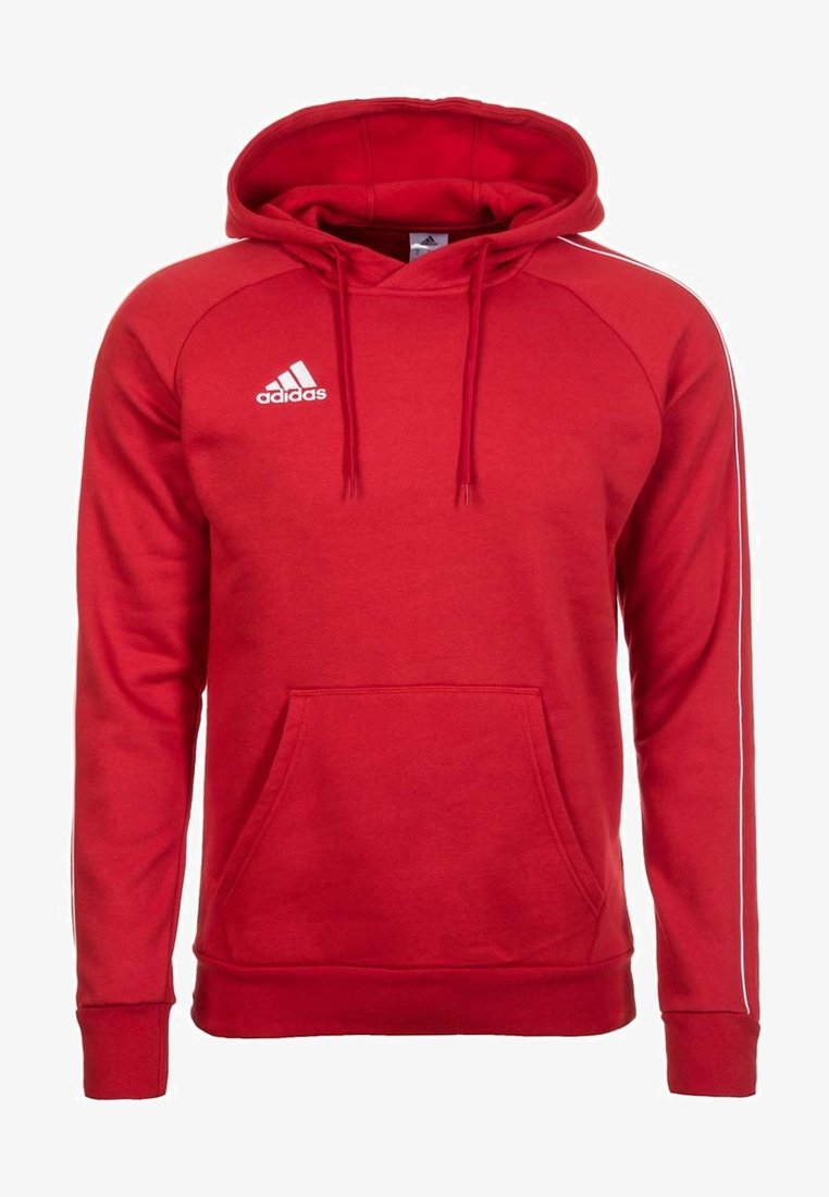 adidas Performance - CORE ELEVEN FOOTBALL HODDIE SWEAT - Hoodie - red/white