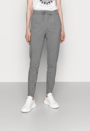 VMEVA LOOSE STRING PANTS  - Pantalon classique - medium grey melange