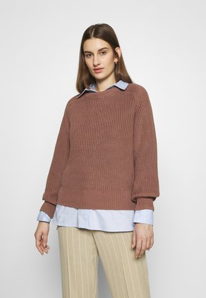 ETTA O-NECK - Jumper - raw umber