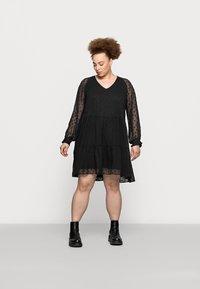 Pieces Curve - PCNUTSI DRESS - Cocktail dress / Party dress - black - 0