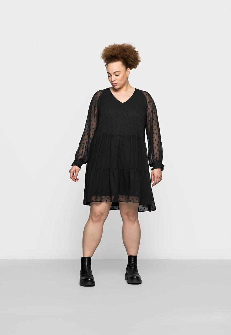 Pieces Curve - PCNUTSI DRESS - Cocktail dress / Party dress - black