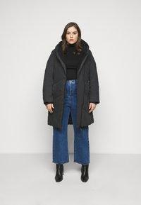 Ragwear Plus - GORDON LONG PLUS - Zimní kabát - black - 1