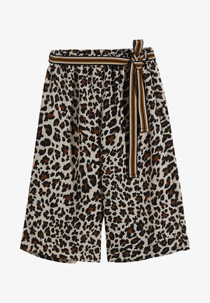 WITH ANIMALIER PRINT - Trousers - leopard print