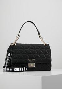 Guess - LAIKEN SHOULDER BAG - Handbag - black - 0