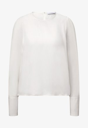MIT VOLUMINÖSEN ÄRMELN - Blouse - snow white