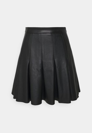 DARTED MINI SKIRT - A-line skirt - black