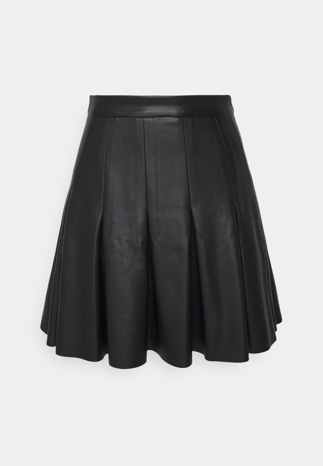 DARTED MINI SKIRT - A-lijn rok - black