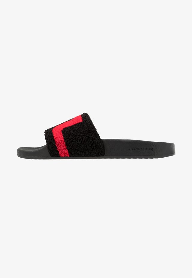 ENRICO SLIPPER SPORT TERRY - Mules - black