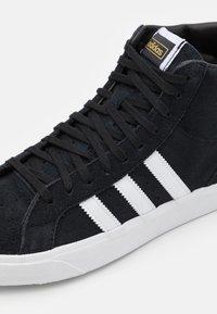 adidas Originals - BASKET PROFI UNISEX - High-top trainers - core black/footwear white/gold metallic - 5