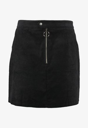 RING PULL SKIRT - Miniskjørt - black