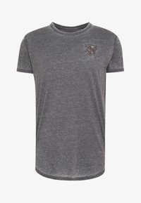 SIKSILK - BURNOUT ROLL SLEEVE TEE - Basic T-shirt - grey - 3