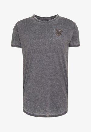 BURNOUT ROLL SLEEVE TEE - T-Shirt basic - grey
