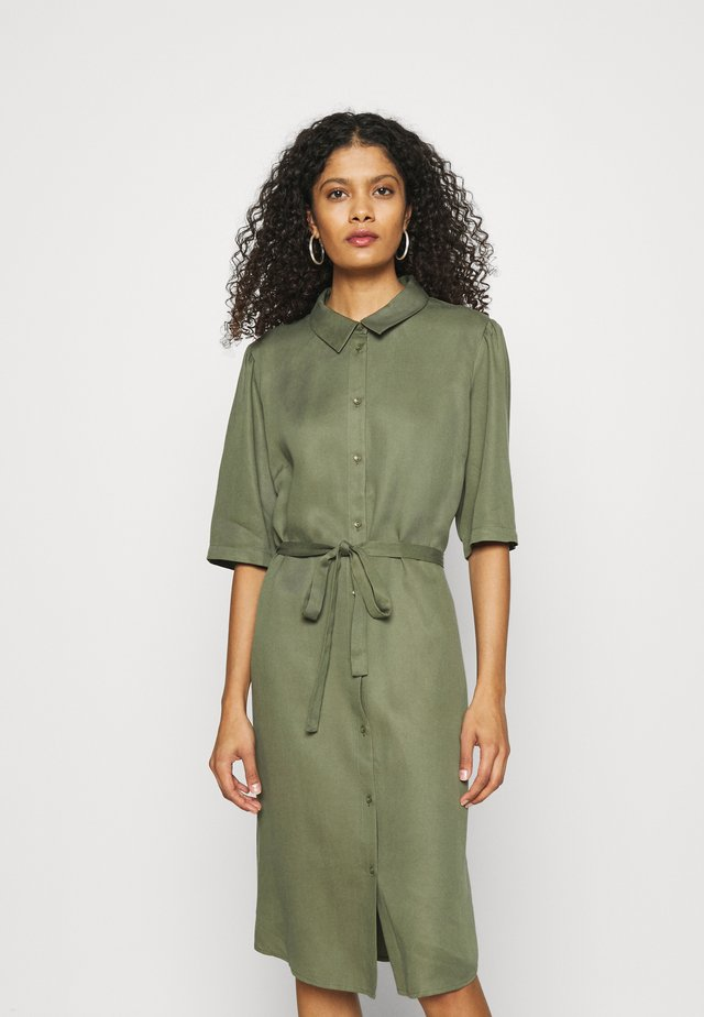 RYAWA DRESS - Shirt dress - reseda green