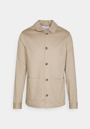 PRESTON DOBBY HYBRID - Summer jacket - dark sand