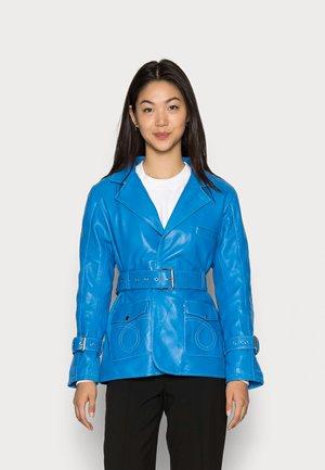 DEBBIE JACKET - Leather jacket - blue