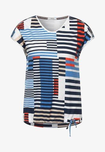 MIT SMOK-DETAILS - Print T-shirt - blau