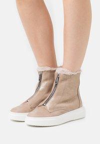 Marc Cain - Platform ankle boots - gold - 0