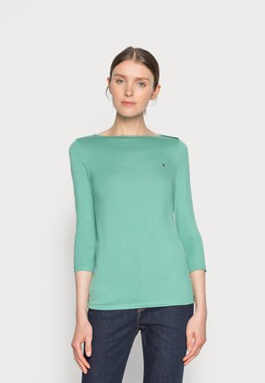 Long sleeved top - frosted evergreen