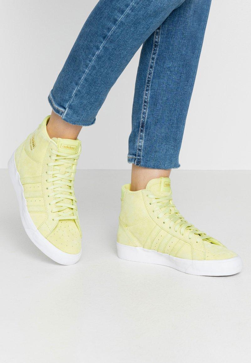 adidas Originals - BASKET PROFI WOMEN - High-top trainers - yellow tint/footwear white/gold metallic