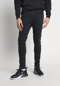 Golden Equation - FADED DISTRESSED MID-RISE - Jeans Skinny Fit - black - 0