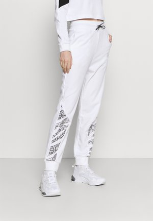 REBEL HIGH WAIST PANTS  - Tracksuit bottoms - puma white