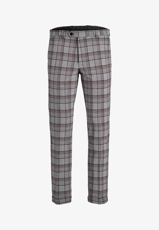 ELEGANTE KARIERTE - Spodnie garniturowe - grey melange