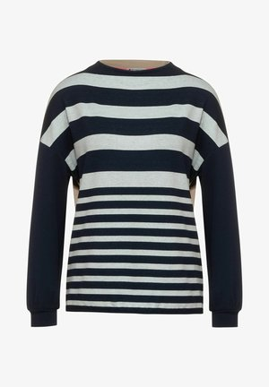 IM STREIFEN DESSIN - Long sleeved top - blau