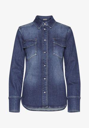 DRLULU - Button-down blouse - mid blue denim