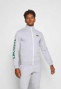 Lacoste Sport - TRACKSUIT - Tracksuit - silver chine/green/white - 0