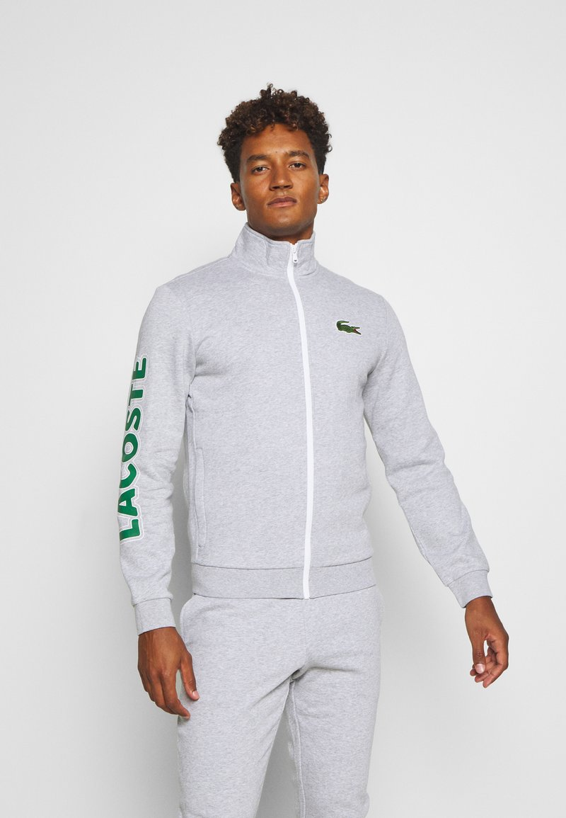 Lacoste Sport - TRACKSUIT - Tracksuit - silver chine/green/white