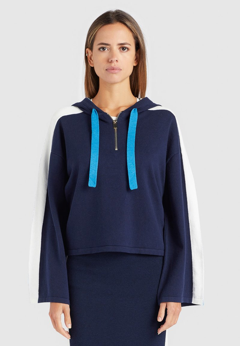 khujo - ZENGINA - Bluza z kapturem - blue/white