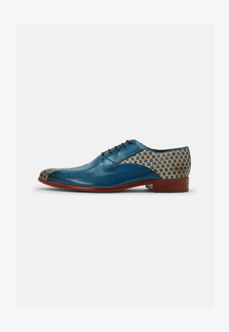 Melvin & Hamilton - TONI 31 - Šněrovací boty - blue/nude