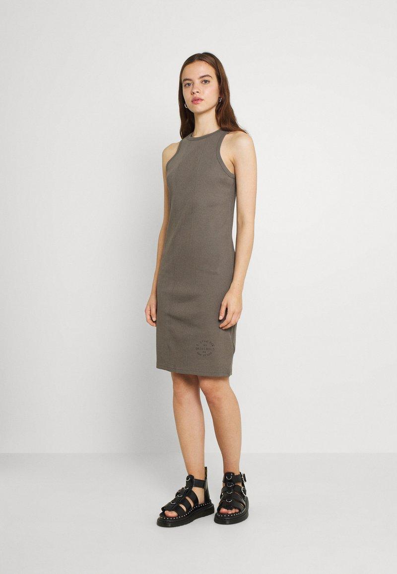 G-Star - ENGINEERED TANK DRESS - Shift dress - grey