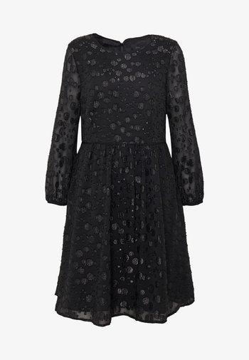 LANA LEOPARD DRESS - Vestido de cóctel - black