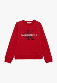 Calvin Klein Jeans - MONOGRAM LOGO UNISEX - Felpa - red - 0