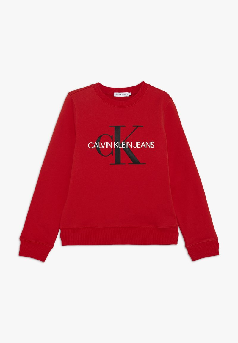 Calvin Klein Jeans - MONOGRAM LOGO UNISEX - Felpa - red