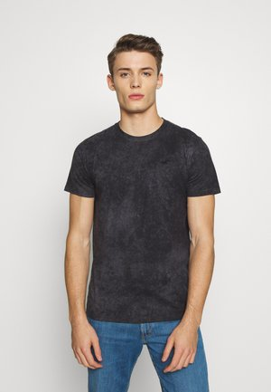 GARMENT DYE - T-shirt z nadrukiem - black wash