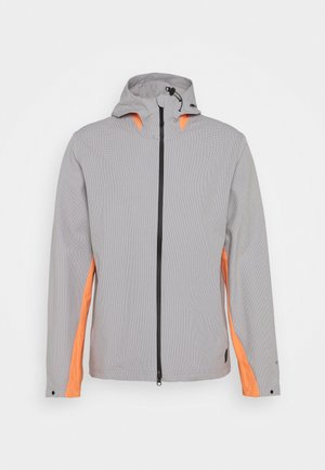 ADICROSS ELEMENT JACKET - Regnjacka - grey three/amber tint