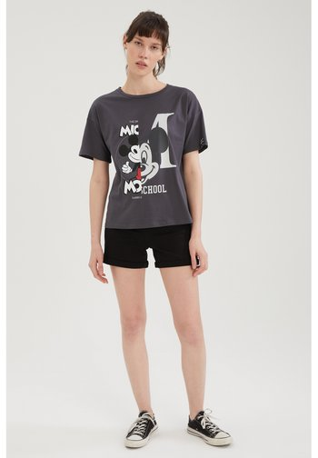 DISNEY MICKEY - T-shirt con stampa - anthracite