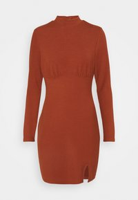 Glamorous - LONG SLEEVE DRESS - Shift dress - rust - 4