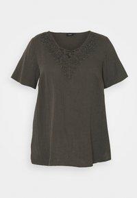Zizzi - VVIVU BLOUSE - Print T-shirt - khaki - 3