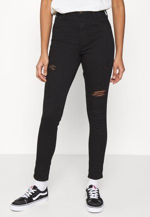 Jeans Skinny Fit - black destroy