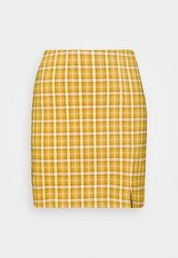 Topshop - BENG CHECK - Minisukně - mustard yellow - 3