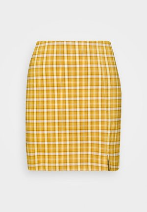 BENG CHECK  - Minifalda - mustard yellow
